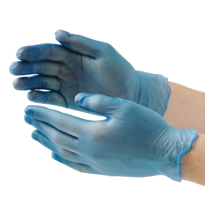 Blue Vinyl Powder Free Gloves Gd13 Bm Supplies