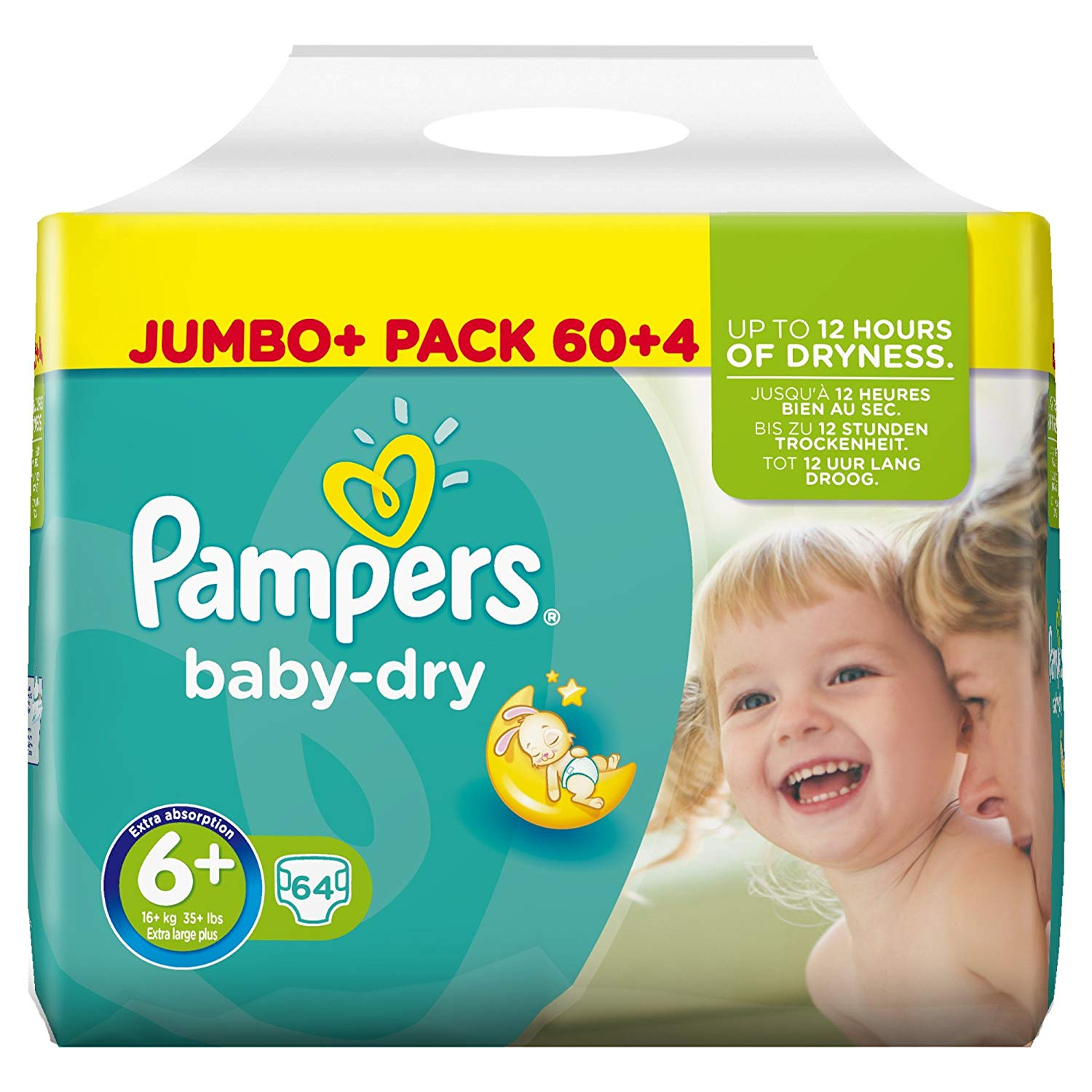 7a9d2bf00a9 Pampers Baby Dry Nappies – Size 6 – Pack 64 – BM Supplies